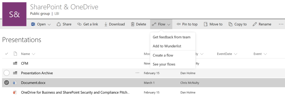 Microsoft To Start Integrating SharePoint Lists with Flow