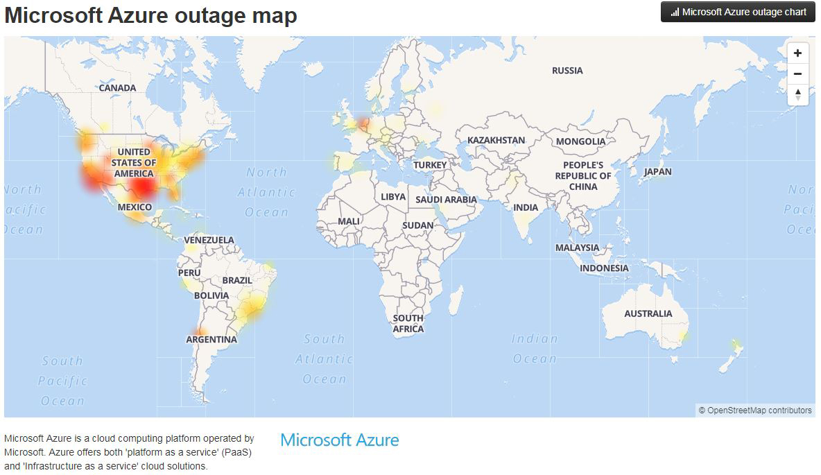 Microsoft Cloud Services Stumble After Outage Hits Texas Datacenter